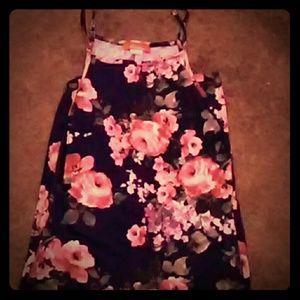 Maxi, tight dress with spaghetti straps